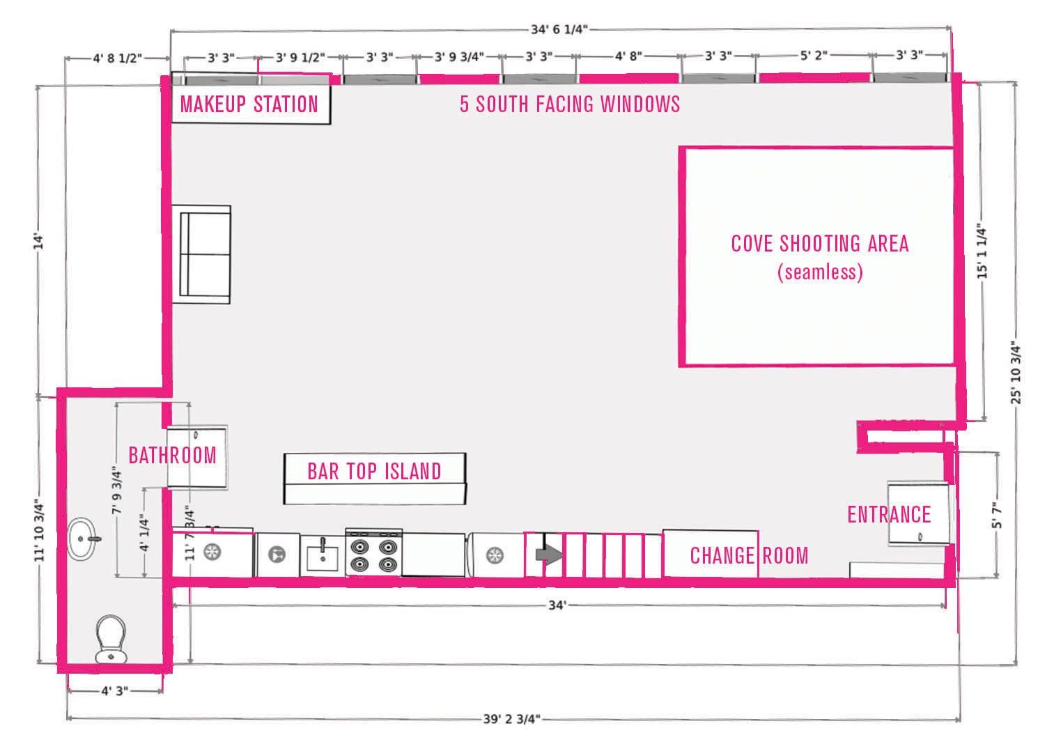 facilities floor plan studio 207 studio